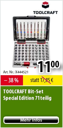 TOOLCRAFTBitSetSpecialEdition71teilig